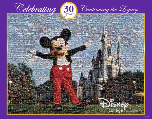 Disney College Program 30th Anniversary Mosaic (Click to See Full Size)